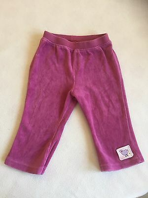 Baby Girls Clothes 6-9  Months - Cute Velour Trousers -