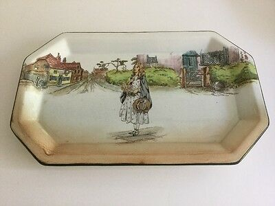 Royal Doulton Dickens Series Ware Little Nell Sandwich Plate Serving Dish