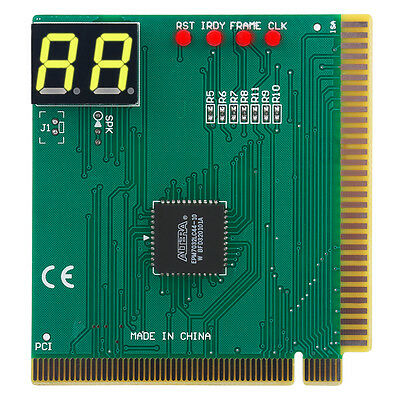 2-Digit Card PC Analyzer Computer Diagnostic Motherboard POST Tester for PCI&ISA