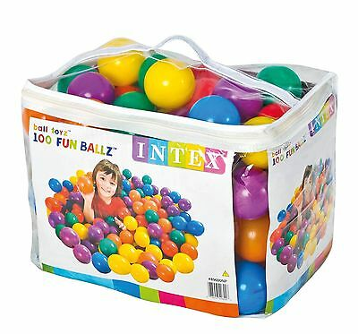 Set Di 100 Palline In Plastica Colorate Da 8 Cm. Per Bambini Intex Box Piscine