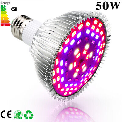 80W Full Spectrum E27 Led Grow Light Growing Lamp Light Bulb For Flower Plant