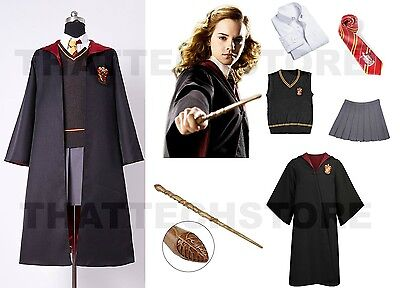 Adult Harry Potter Hermione Granger Gryyfindor House Uniform Costume Cosplay