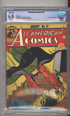 All American Comics # 17  2nd Green Lantern !  CBCS 6.5 rare Golden Age book !