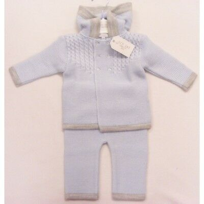 Romany Spanish Style Knitted 2 Piece Outfit Trousers Pram Coat Set by Zip Zap