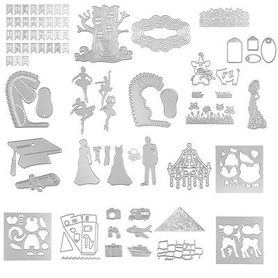 DIY Metal Cutting Dies Stencil Scrapbooking Card Paper Embossing Craft Decor Bib