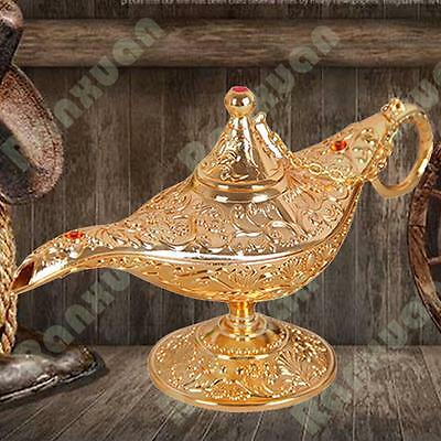 Metal Enamel Carved Magic Genie Lamp Aladdin Arab Retro Arabian Nights Tea Pot