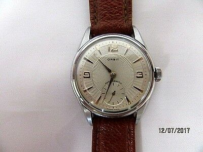C1940/50s Orbit Stainless Steel Wrist Watch Good working order