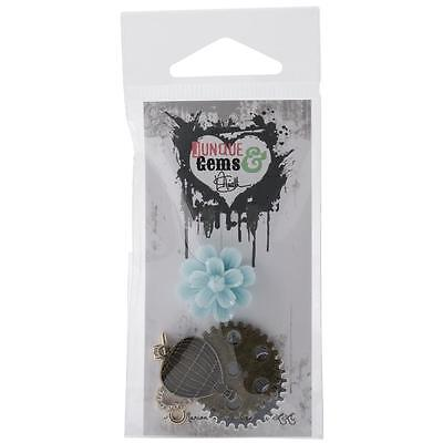 Marion Smith Junque & Gems Metal & Resin Embellishments 5/Pkg Geared Up
