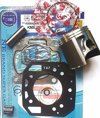 Kawasaki KMX200 KMX 200 67mm Bore Mitaka Top End Rebuild Kit Inc Piston Gaskets