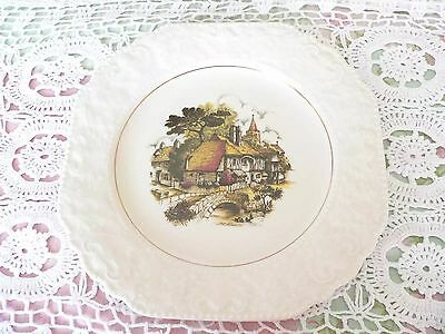 Antique Vintage Old Lord Nelson Pottery China Inn Mill House Cake Plate