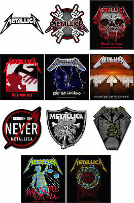 Metallica Patch Hardwired Master Of The Puppets band logo Official New