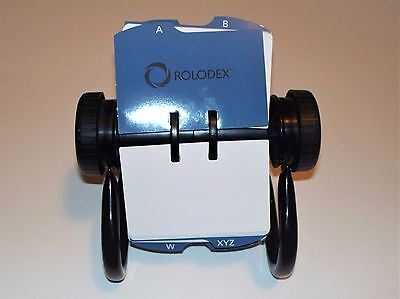 Rolodex Open Rotary Business Card File with Blank 2-5/8 by 4 inch Used