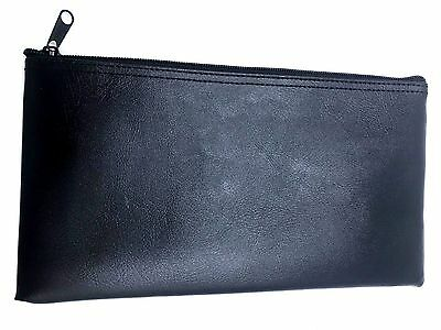 "PM Company Securit Bank Deposit / Utility Zipper Coin Bag 11"" X 6"" Inches Black"