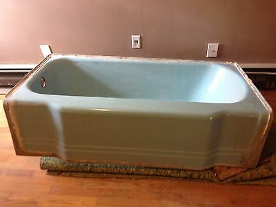 1950's Blue Eljer Cast Iron Bathtub -Mid Century Modern