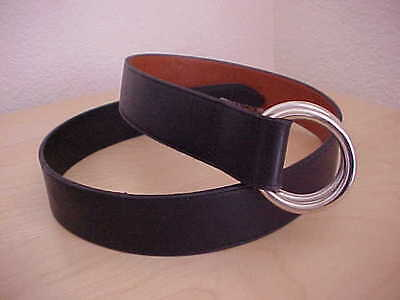 Belmont Redlich unisex Black Leather Belt Medium