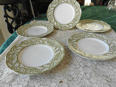 J & G Meakin RENAISSANCE GREEN Bread & Butter Plate  lot of 5 plates