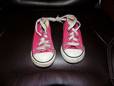 Converse All Star Hot Pink Canvas Lace Up Sneaker Infant shoes Size 5