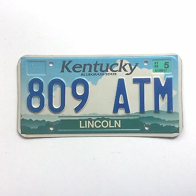 Kentucky 1999 Old License Plate Garage Car Tag Man Cave Cloud Lincoln