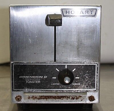 Kitchen Toaster Hobart Dimension II 2-Slice Toaster, commercial, restaurant