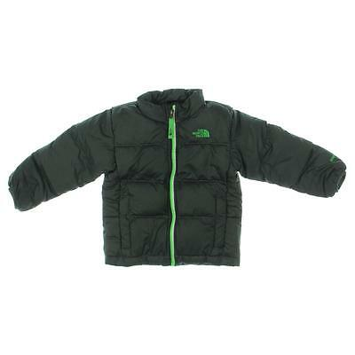 The North Face 8072 Gray Toddler Boys Down Puffer Coat Jacket 4T BHFO