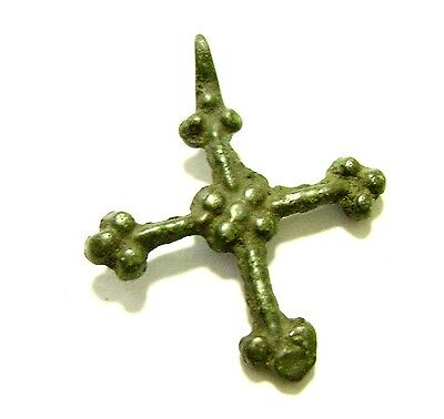 Ancient  Rare Viking bronze cross. Kievan Rus