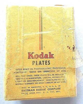Vintage Kodak Super Panchro-Press Plates=12 Plates=New/ Old Stock=Unopened= 1949