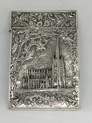 Very Rare Nathaniel Mills Castletop Card Case - 1834