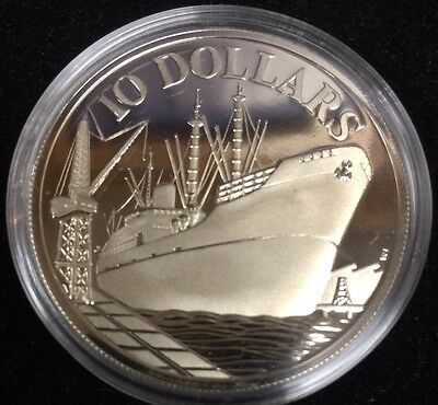 1977 Republic of Singapore $10 Silver Proof 10th Anniversary of Independence