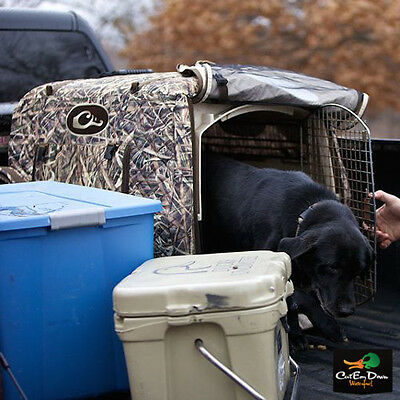 Drake Waterfowl Deluxe Adjustable Insulated Dog Kennel Cover Blades Camo
