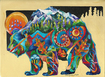 SPIRIT TOTEM BEAR 8x10    Print from Artist Sherry Shipley