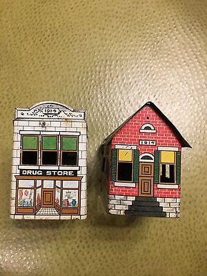 Antique 1914 West Bros. Candy Containers Plus Drug Store