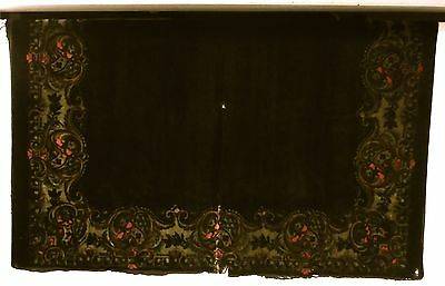 """Antique Herman Sachs Lodz Poland Tapestry Rug/cover/tablecloth - 72"""" X 55"""""""