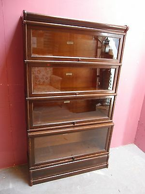 Antique Oak 4 Section Globe Wernicke  Bookcase