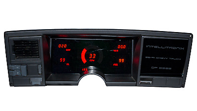 Chevy Truck DIGITAL DASH PANEL 1988-1991 Gauges GMC Intellitronix RED LEDs!