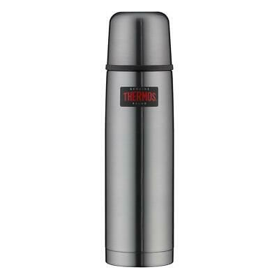 Isolierflasche 0,75 Liter Thermos Light & Compact grau Edelstahl Thermosflasche