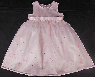Sparkly sequin party dress baby girl 18-24 months PINK BNWOTS