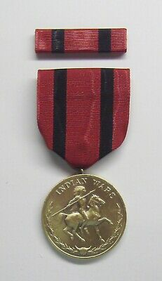 Indian Wars Military Medal with RIBBON