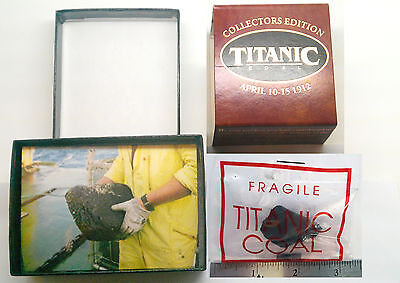 Titanic (Very Very Large) Rare Piece Of Coal In Presentation Box W/ Coa