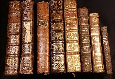 Lot of 8 Very Old Rare Books - Ancient History and Philosophy - 1700s