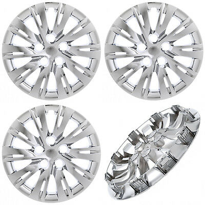 """4PC fits TOYOTA CAMRY 2007-17 16"""" Inch CHROME Hub Caps Cover for Steel Wheel Cap"""