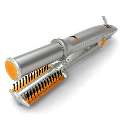 New Silver Ionic inStyler Pro Ionic Hot Brush and Ceramic Flat Iron