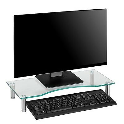 Lcd Led Computer Monitor Table Riser Shelf Desktop Stand Space Saver Laptop