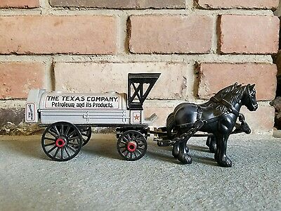 1991 ERTL Texaco Horse & Tanker Die Cast Locking Coin Bank Edition #8 with key!