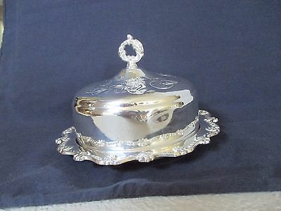 Vintage Silver-plated Butter Dish with Dome Lid and Glass Dish Insert