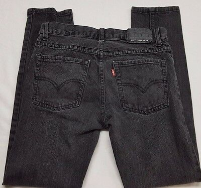 510 LEVI Jean Super Skinny Size 16 Reg 28 x 28 Boys or Girls Stretch Denim EUC