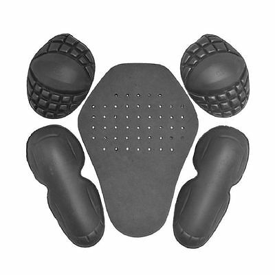 5 xMotorcycle Riding Shoulder Elbow Back Protection Pad Racing Safety Armour