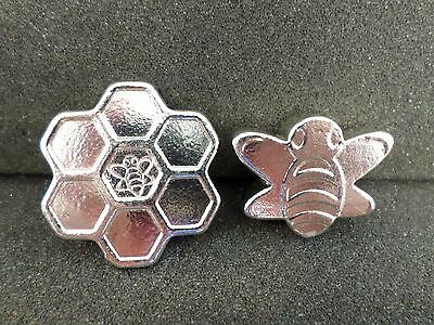 YPS 2 oz. Honeycomb and 2 oz. Honeybee (4 oz's. .999 Fine Silver)