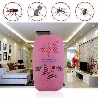 Electronic Ultrasonic Anti Mosquito Pest Cockroach Mouse Magnetic Repeller OP