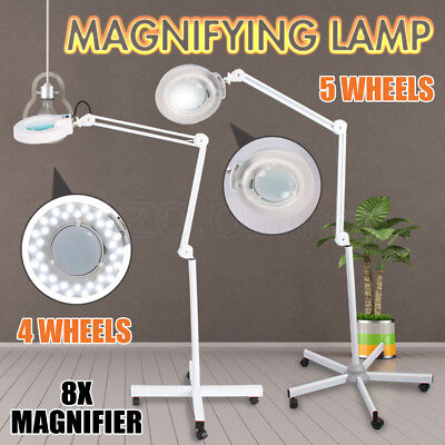 Magnifying BEAUTY Lamp Glass Lens 36 LEDS/T5 Fluorescents Bulbs Magnifier Lights