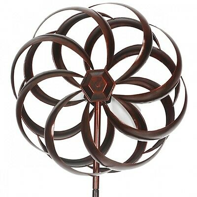 Copper Round Windmill Large 1.8M High |  Metal  Windmill